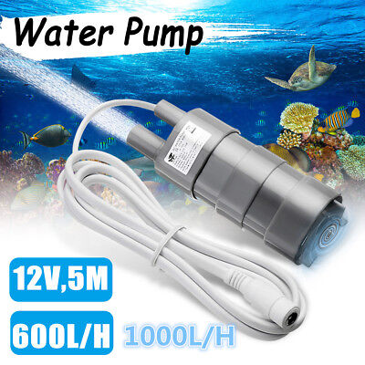 600/1000L/H 12V Brushless Magnetic Submersible Water Pump 5M Fish Pond Boat Pool
