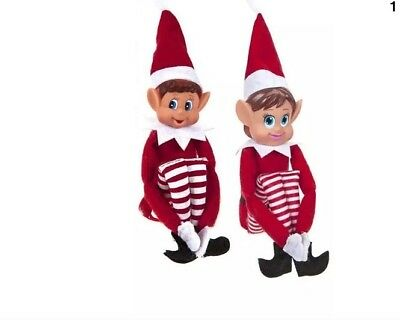 12 Inch Red Naughty Elf Elves Behavin' Badly On The Shelf Boy or Girl