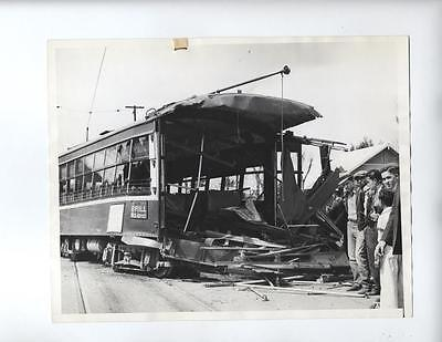 Vtg 1935 Phoenix, Arizona RR Railroad Accident photo Train Wreck Tram  Freight