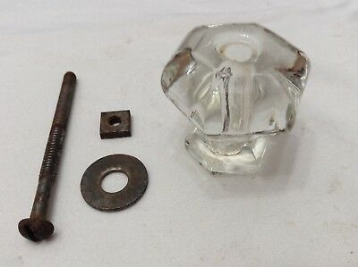 Vintage Antique Glass Drawer Pull Cabinet Door Knob