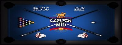 CARLTON MID POOL MANCAVE BANNER Work Shop Garage Shed Bar Whisky