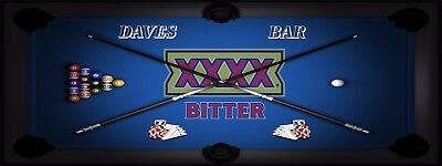 XXXX BITTER POOL MANCAVE BANNER Work Shop Garage Shed Bar Whisky