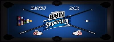 HAHN SUPER DRY POOL MANCAVE BANNER Work Shop Garage Shed Bar Whisky