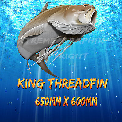 King Threadfin  Decal Left&right 650Mm X 600Mm  Boat / Car / Truck