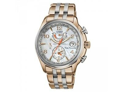 NEW Citizen Eco-Drive Women's FC0006-52D Atomic Chronograph Two-Tone 39mm Watch