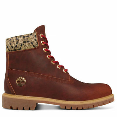 11722284f238 Timberland Limited Release Cny Brown Gold 6-Inch Men Prm Leather Boots Sz  8.5-