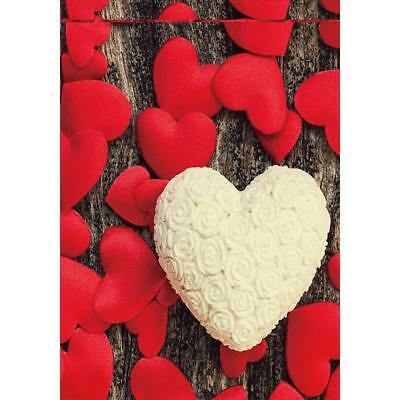 Welcome Red Valentine Heart Garden Flag House Double-sided Yard Banner