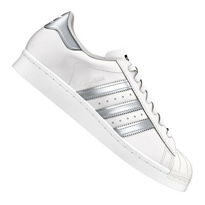 separation shoes a8719 7b536 Adidas Originale Superstar Sneakers Bianco Argento