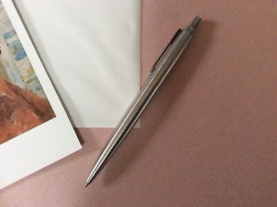 "Vintage Parker Ball Point Pen Silver Finish 5.25""L, Made in USA"