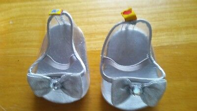 bce193a67c4c Build-A-Bear Workshop Accessory Clear Heel Shoes Cinderella Glass Slippers