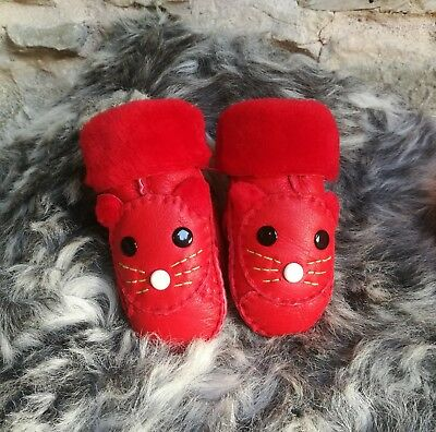 SHEEPSKIN mittens toddler Girls, boys mittens size 1- 4 years, leather mittens