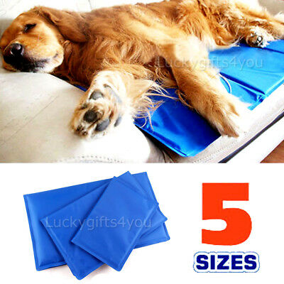 FAST POST Pet Cool Gel Mat Dog Cat Bed Non-Toxic Cooling Dog Summer Pad 6 Sizes