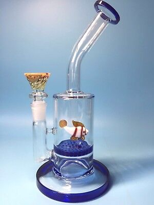 Color Fish Glass Smoking Pipes Water Bongs Water Pipes Glass Bong Hookahs 8.5 ""