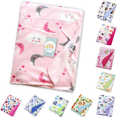 Cute Baby Newborn Soft Fleece Blanket Pram Crib Basket Girls Boys Unisex 1#~10#