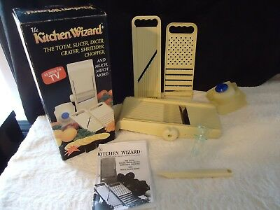 The Kitchen Wizard Food Slicer With Edger And Juicer Mandolin