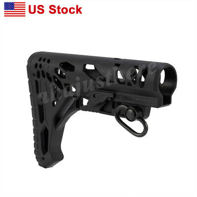 MFT 2 Mission First Tactical Stock Minimalist Battlelink Adjustable Mil-Spec BLK