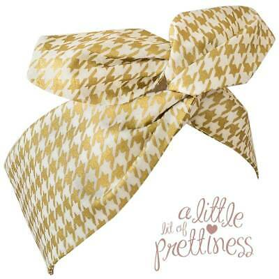 Houndstooth Gold Rockabilly 50's Vintage Wire Headscarf