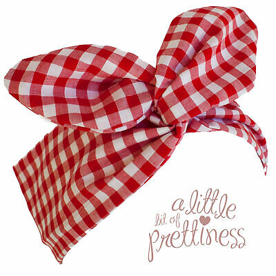 Pin Up 50's Red Gingham Rockabilly Vintage Wire Headband