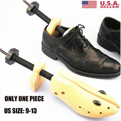 Men Two-Ways Shoe Tree Stretcher Wooden Adjustable US Sizes 9-13 Shoes US SHIP