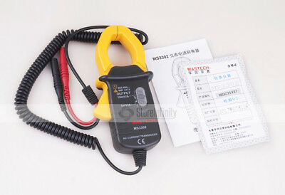 MASTECH MS3302 AC Current 0.1A-400A Clamp Meter Transducer True RMS