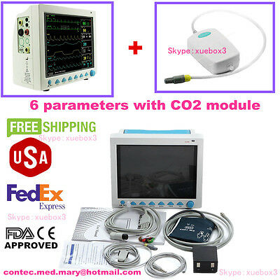 with Capnograph etCO2 CMS8000 Vital Signs Patient Monitor,Multi parameter CONTEC