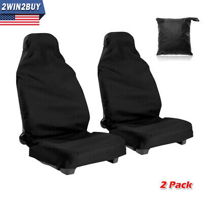 Car Front Bucket Seat Covers Set Auto Waterproof Dust Protector 2 Pack Universal