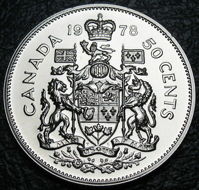 RCM - 1978 - 50-cents- Coat of Arms - Square Jewels - SPECIMEN - Uncirculated