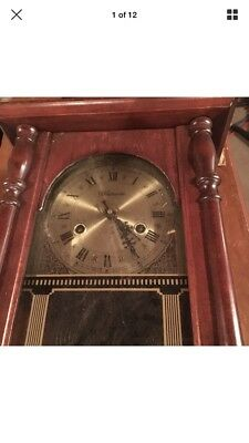 Wentworth 31 Day Wall Clock with Key .Clock Works. Wood Needs Repair
