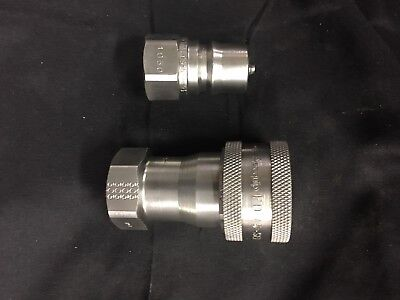 Aeroquip Stainless Quick Connect Coupling Model FD45-1005-08-10 Male & Female