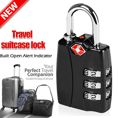 TSA Approved Resettable 3 Digit Combination Travel Luggage Suitcase Lock Padlock