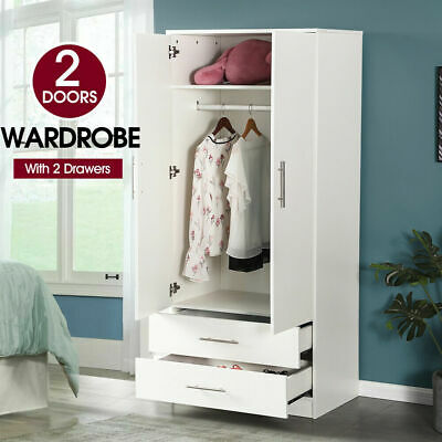 Home Kitchen Bedroom Cupboard Organizer Wooden Storage Unit Wardrobe Cabinet AU[