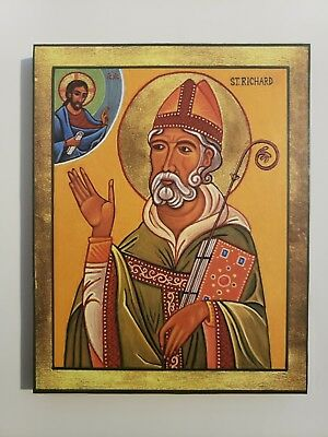 St. Richard the King, Confessor, Orthodox Icon, Size 7, 12/16 X 9, 14/16 Inches