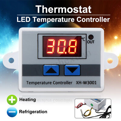 220V Digital LED Temperature Controller 10A Thermostat Control Switch Probe New
