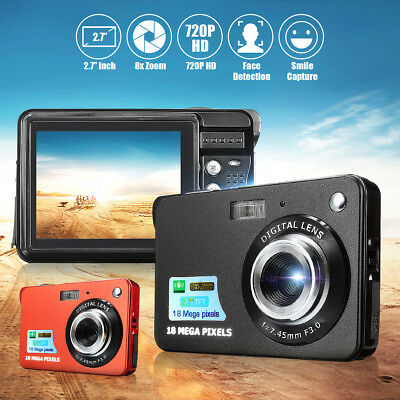2.7'' 8x ZOOM CMOS Anti-shake 18MP Pixels LENS Digital Camera MINI DV Camcorder