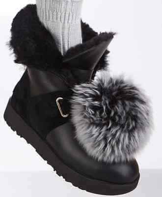 8a55cdbcd0c Authentic black UGG boots with Pom pomssize 10 New with box