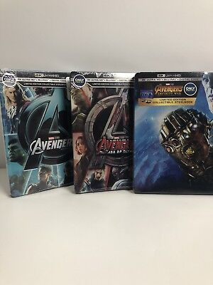 Brand New Sold Out Best Buy Avengers Collectable 4K and BluRay Steelbook Trilogy