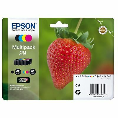 Genuine Epson 29 Ink Cartridge Multipack Strawberry (2019) FAST FREE DELIVERY
