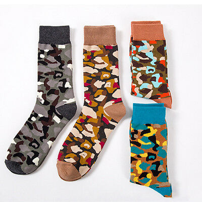 Trendy Fashion Long High Camouflage Socks Warm Cotton Women Men Winter Soft Gift