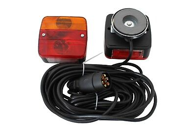 Trailer Rear Towing Lightboard Lights 7.5m+2.5m Cable Magnetic 7-pin Plug TK003A