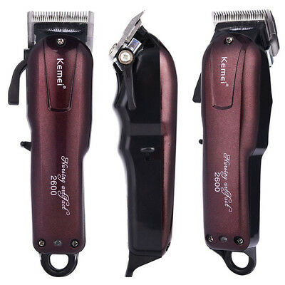 Professional Electric Hair Clipper Cordless Shaver Kemei KM-2600 Quick Charging