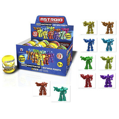 16 Boxes Egg Astroid Robot Figures Toy Mini Constructor Gladiators of the Future