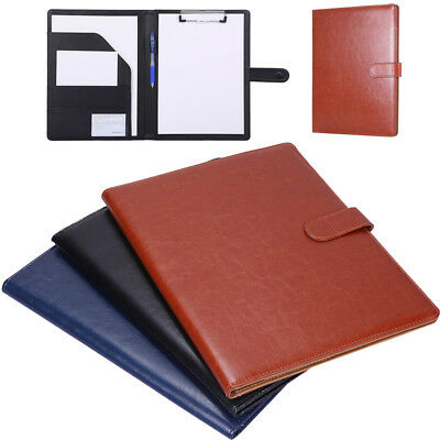 Multifunction A4 Conference File Folder PU Leather Document Business Portfolio