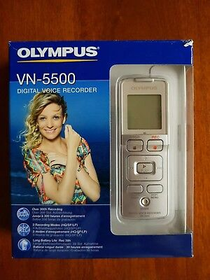 OLYMPUS VN-5500 Digital Voice Recorder Dictaphone *Tested & Working*