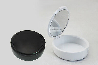 denture box with mirror plastic teeth container denture storage box retainer
