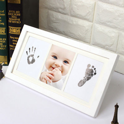 Baby Inkless Wipe Gift Handprint Keepsake Hand Foot Print Kit Newborn Footprint
