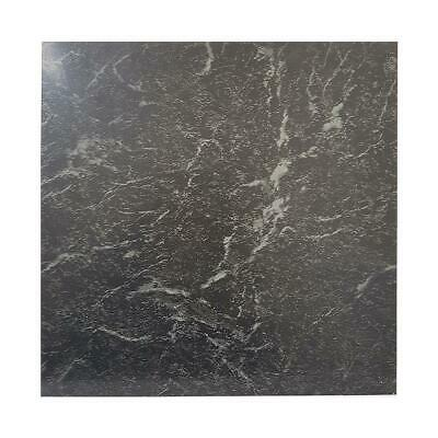 Floor Tiles Self Adhesive Vinyl Flooring Kitchen Bathroom Marble Effect Black