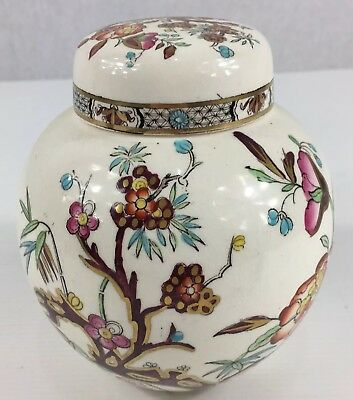 Vintage Masons Ironstone Ginger Jar Retailed By Harrods 14cm In Height