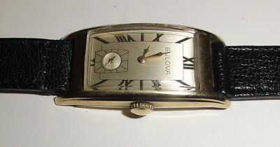 "Bulova Yellow Gold Filled Art Deco ""Curvex"" Style Men's Watch 1930'S - 1940'S ?"