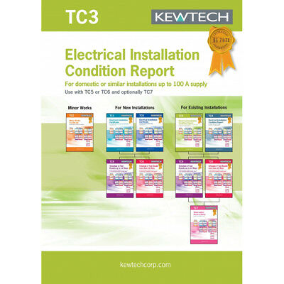 Kewtech TC3 Electrical Installation Condition Report for Installations to 100A