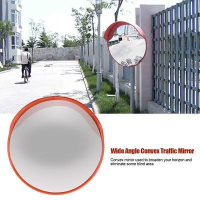 60cm/24'' Wide Angle Security Curved Convex Road Mirror Traffic Driveway Safety